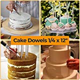 Cake Dowels Rods for Wedding Cake - Sturdy Wooden