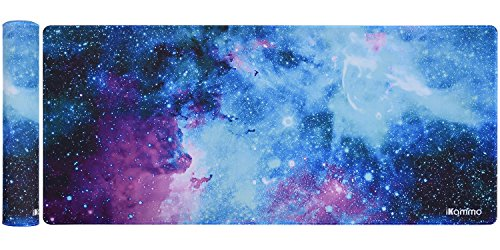 iKammo Extended Mouse Pad Large Gaming Mouse Pad XXL Desk Pad Desktop Pad Non-Slip Rubber Base with Stitched Edges, Size 35inch x 15.55inch (XXL-Galaxy 2) by iKammo
