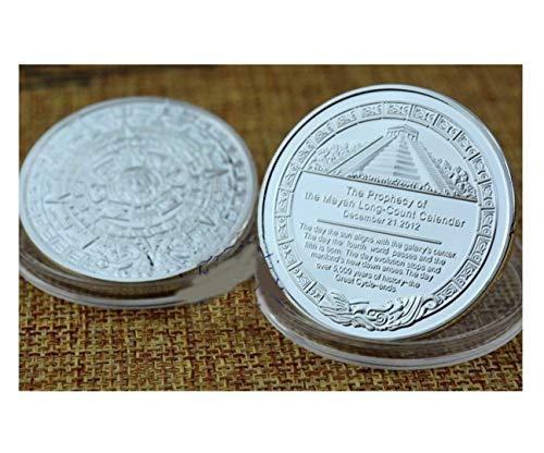 Hanpmy Maya Civilization Coins Splendid Mysterious Pyramid Maya Souvenir Commemorative Coin for Home Study Decoation (Color : Silver)