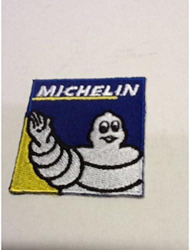 アメリカンな小型刺繍ワッペン(AH)(ミシュラン)アイロンワッペン 刺繍、エンブレム、大人気、オシャレ