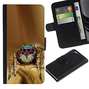 All Phone Most Case / Oferta Especial Cáscara Funda de cuero Monedero Cubierta de proteccion Caso / Wallet Case for Apple Iphone 5 / 5S // Cool Spyder Bro