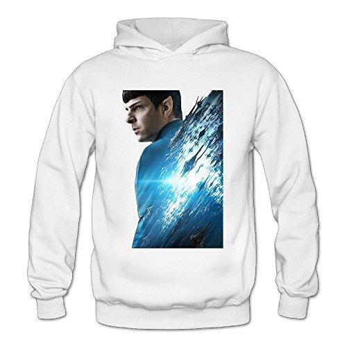 Chris-T Spock Star Trek Beyond Women's Long Sleeve T Shirts White US Size S