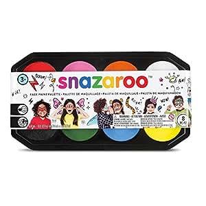 Snazaroo - Paleta de pintura facial, kit de 8 colores