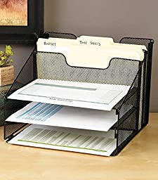 Black Desktop File Organizer