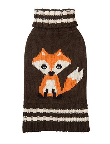 Fab Dog Knit Turtleneck Dog Sweater Fox, Olive, 12  Length by Fab Dog