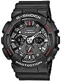 Casio G-SHOCK - Reloj analógico - digital de caballero de cuarzo con correa de resina negra (alarma, cronómetro, luz) - sumergible a 200 metros