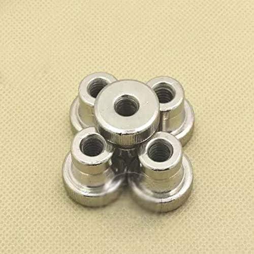 Size: M6 8pcs Nuts M3 M4 M5 M6 M8 M10 Thumb Adjusting Nut High Head Knurled Nuts Nickel Plating -