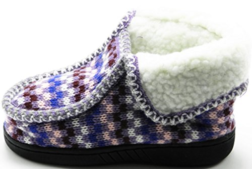 Tout-petit Bébé Hiver Polaire Fourrure Neige Cheville Glisser Sur Chausson Doux Chaussures De Démarrage Violet