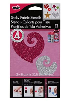 Tulip Sticky Fabric Stencils- Small Everyday 4X4