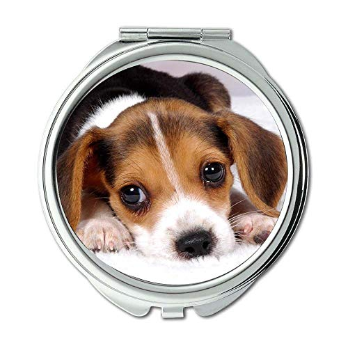 Mirror,Travel Mirror,Perfect for Dog baby dog,pocket mirror,1 X 2X Magnifying (Tosh O Best Videos)