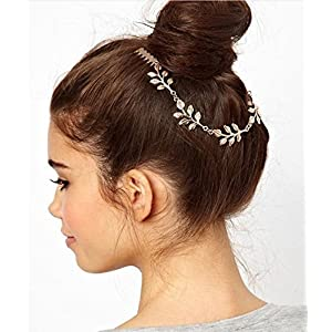 Cinderella Collection By Shining Diva Gold Plated Hair Clip for Women (Gold)(6331hc)