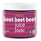 Beet Beet Beet- Organic Beet Juice Powder, 300 grams, 100% Pure USA Grown Beets, No Additives or Flavors, Cold Temperature Processed for Maximum Potency