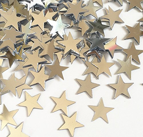 Scrapbook Birthday Invitations (Star Confetti Silver Table Metallic Foil Stars Sequin for Party Wedding Decorations Twinkle Twinkle Little Star Birthday Arts Crafting (1 Bottle / 12g ) BA00SX)