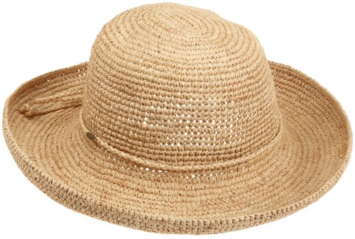 Scala Women's Womens Crocheted Raffia,Natural,One Size