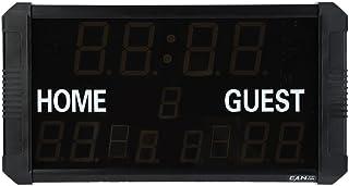 Tableau d'Affichage Électronique Portatif de LED avec à Télécommande pour les matchs du Base-ball/Badminton/Basket-balll/Football(EU Plug) Wal front