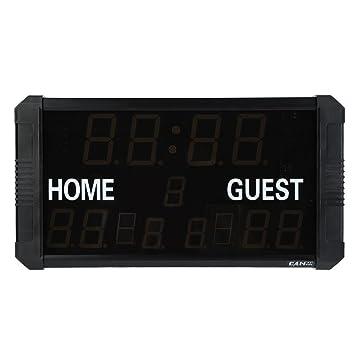 GOTOTOP Electrónico LED Marcador con Control Remoto para Baloncesto Béisbol Bádminton: Amazon.es: Deportes y aire libre