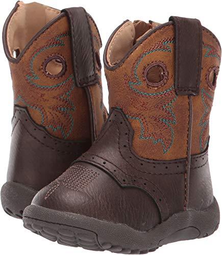 ROPER Infant-Boys' Daniel Western Boot Round Toe Brown 3 D