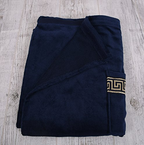 Soft & Softly Made in Europa, Men's Velour Body Wrap for Bath, Shower and Spa, Greek Key Style by Soft & Softly (Image #1)