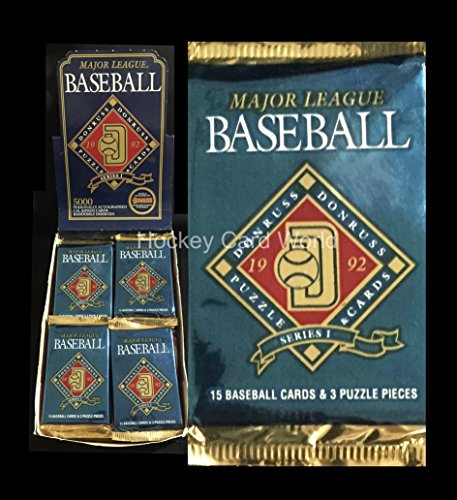 1992 Donruss Series 1 Baseball Pack - 15 cards per pack - Look for Autographs? (1992 Donruss Card)