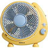 Havells Crescent 250mm Table Fan (Yellow)