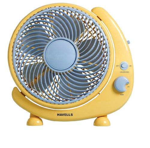 Havells Crescent 250mm Table Fan (Yellow) product image