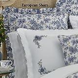 Lenox Garden Grove Euro Pillow Sham, Blue Floral