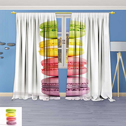 SOCOMIMI 3657D Geometry Fashion Design Print Thermal Insulated Blackout Curtainmacarons are on top of Each Other in The Amount of pcs with Top for Bedroom 96W x 96L inch