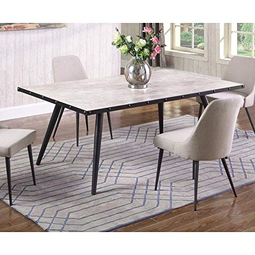 Best Master Furniture DX800 Marley Rectangular Dining Table Only Only, Weathered Grey