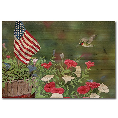 WGI-GALLERY WA-GGH-2416 Garden Glory Hummingbird Wall Art