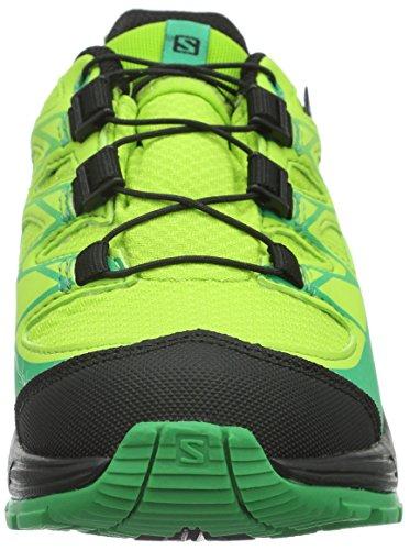 Salomon Wings Cswp - Zapatillas de Entrenamiento Unisex Niños Verde - Grün (Granny Green/Black/Real Green)