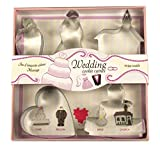 Fox Run 36002 Wedding Cookie Cutter Set, Tin-Plated Steel, 5-Piece