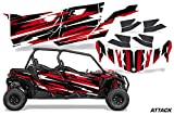 AMR Racing UTV Graphics kit Sticker Decal Compatible with Can-Am Maverick Sport MAX DPS 4-Door 2019 - Attack Blue