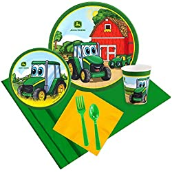 BirthdayExpress John Deere Johnny Tractor 16 Guest Party Pack