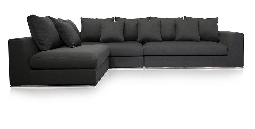 Amazon.com: UrbanMod Modern Reversible Sectional Sofa Gray ...