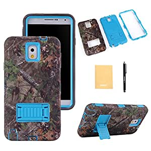 VKKING(TM) Super Robot Design With Stand Hybrid Defender Armor Shock-Absorption for Samsung Galaxy Note 3,Screen Protector,Stylus and Cleaning Cloth Blue