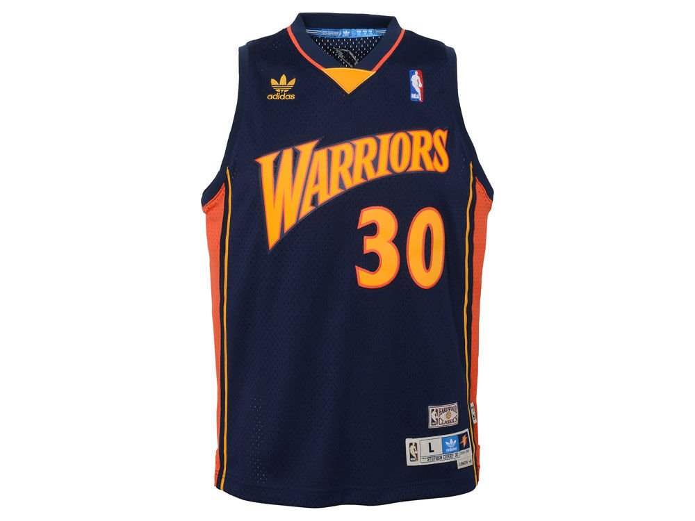 Amazon.com   adidas Youth Curry Warrior Retro Swingman Jerse Navy YL    Sports   Outdoors 5707c8af6