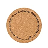 ANBOO 6pcs Cup Mat Cork Tea Coffee Drink Coasters Placemats Soft Mood Tablemats (A)
