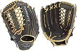 Louisville Slugger 125 Series Softball Outfielder's Glove, Right, Black/Gray, 12.75'