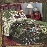 Pirates of the Caribbean Pirates Kraken Woven Twin Comforter