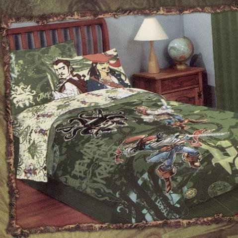 Pirates Of The Caribbean Comforters (Pirates of the Caribbean Pirates Kraken Woven Twin Comforter)