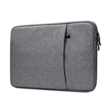 "NIDOO 14"" Waterproof Classic Comfort Laptop Sleeve Case Pouch 14 inch Notebook Bag Protective Skin Cover, Dark Gray"