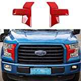 Automotive : Red ABS Front Bumper Headlight & Grille Cover Decor Trim for Ford F150 2015+