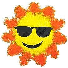"Amscan Hawaiian Summer Luau Party Cool Tinsel Sun Decoration, Foil, 12"""