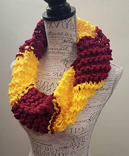 Knit Gryffindor inspired Cowl. Made by Bead Gs on AMAZON.
