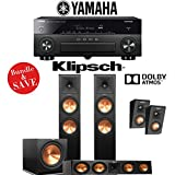 Klipsch RP-280F 3.1.2-Ch Reference Premiere Dolby Atmos Home Theater System with Yamaha AVENTAGE RX-A870BL 7.2-Channel Network AV Receiver