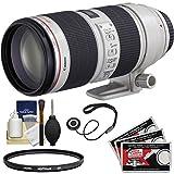 Canon EF 70-200mm f/2.8 L IS II USM Zoom Lens + Hoya UV Filter Kit for EOS 6D, 70D, 7D, 5DS, 5D Mark II III, Rebel T3, T3i, T5, T5i, T6i, T6s, SL1