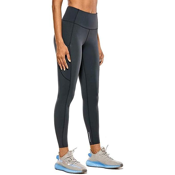 Pantalones De Yoga De Cintura Alta Pantalones Deportivos Ajustados De Secado Rapido Pantalones Elasticos Comodos De Moda De Color Solido Pantalones Deportivos Npsjyq Leggings Deportivos Mujer
