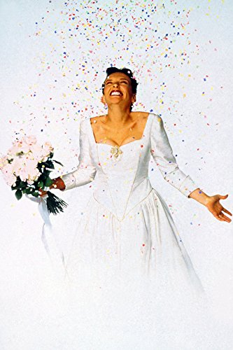 Toni Collette Muriel's Wedding in Dress Holding Flowers Confetti 24x18 Poster