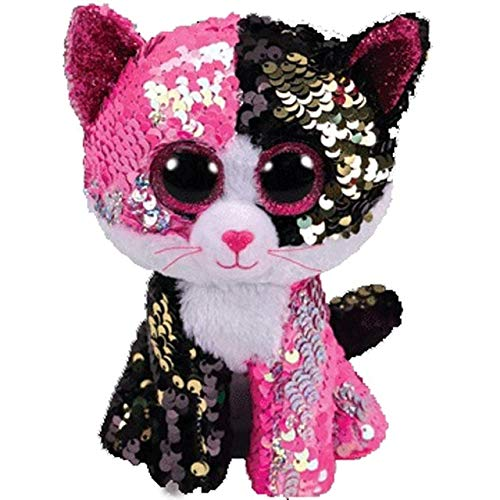 LAJKS Ty Beanie Boos Sequin Series Plush Toys Owl Flamingo Penguin Animal Doll Cat Dragon Collectible 25Cm Must Have Gifts Friendship Gifts Favourite Movie Superhero Classroom Thing You Mus