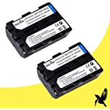 Two Halcyon 2200 mAH Lithium Ion Replacement Battery Kit for Sony NP-FW50